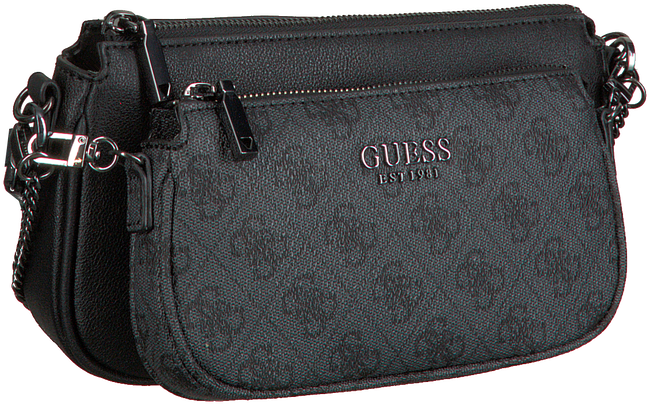 Grey GUESS Shoulder bag MIKA DOUBLE POUCH CROSSBODY  - large