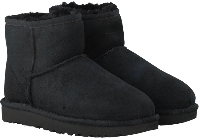 Black UGG Fur boots CLASSIC MINI II - large