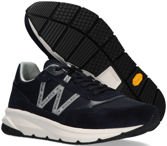Blue WOOLRICH High sneakers TRAIL RUNNER MAN CAMOSCIO  - large