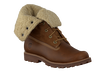 Brown TIMBERLAND Ankle boots AUTHENTICS SHEARLING BOOT - small