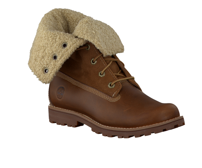 Brown TIMBERLAND Ankle boots AUTHENTICS SHEARLING BOOT - large