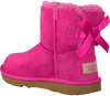 Pink UGG Classic ankle boots MINI BAILEY BOW II KIDS - small