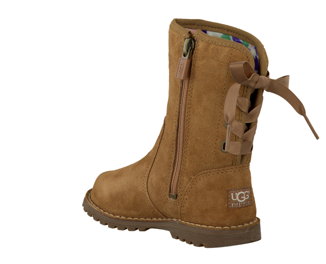 Camel UGG High boots CORENE PATENT - large