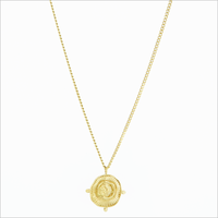 Gold NOTRE-V Necklace KETTING MUNT  - medium