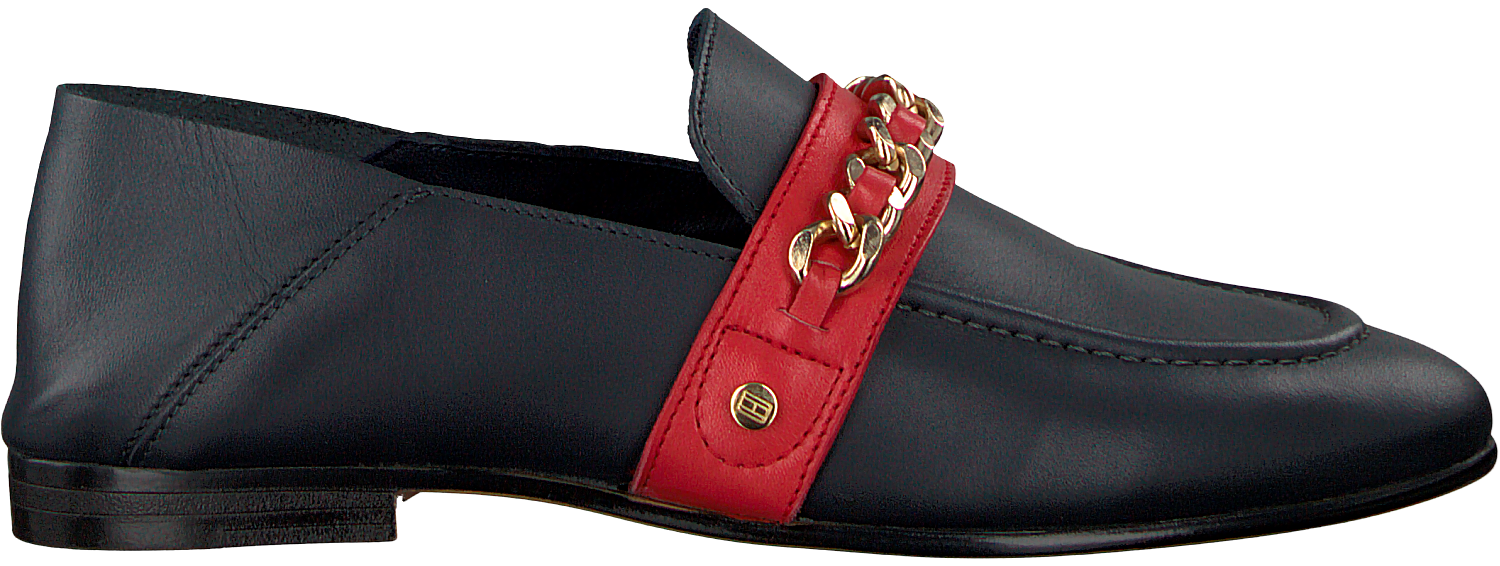 1ea179d31a5f Blue TOMMY HILFIGER Loafers CHAIN DETAIL CORPORATE LOAFER - Omoda.com