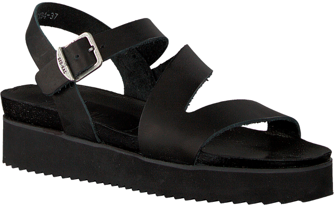 Black RED RAG Sandals 79134 - large