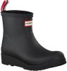 Black HUNTER Rain boots PLAY BOOT SHORT - small