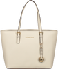 White MICHAEL KORS Handbag JET SET TRAVEL LARGE - small