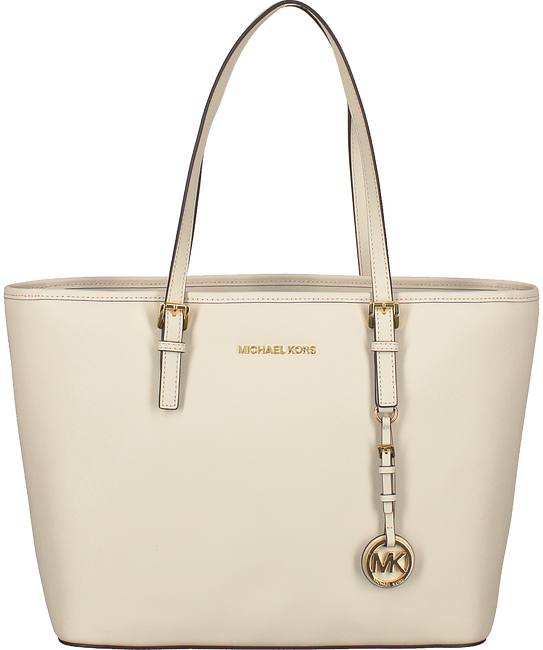 White MICHAEL KORS Handbag JET SET TRAVEL LARGE - large