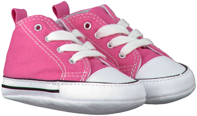 Pink CONVERSE Baby shoes FIRST STAR - large