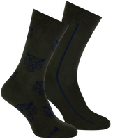 Green MARCMARCS Socks ERIC COTTON 2-PACK - medium