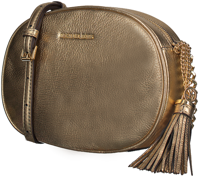 Gold MICHAEL KORS Shoulder bag MD MESSENGER GINNY - large