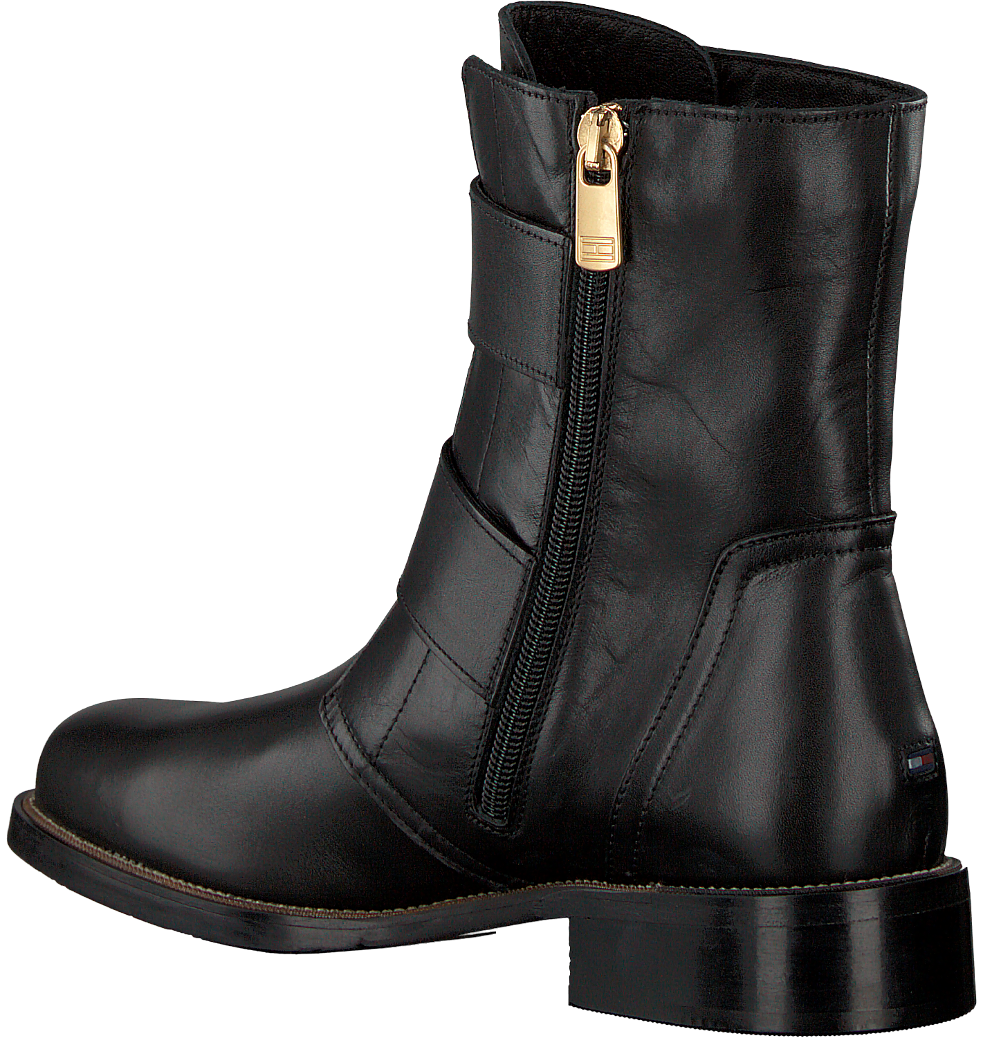 861ffaa5002c7 Black TOMMY HILFIGER Chelsea boots OVERSIZED BUCKLE FLAT BOOT - Omoda.com