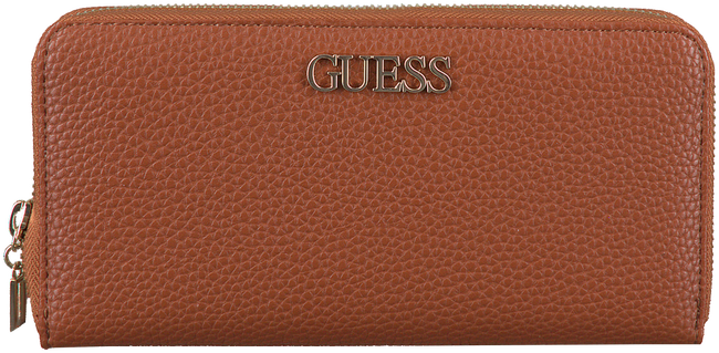 Cognac GUESS Wallet ALBY SLG LARGE ZIP AROUND  - large