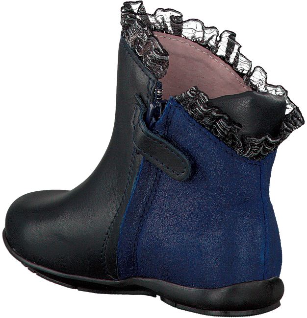 Blue LE CHIC High boots RUFFLE FLOWER - large