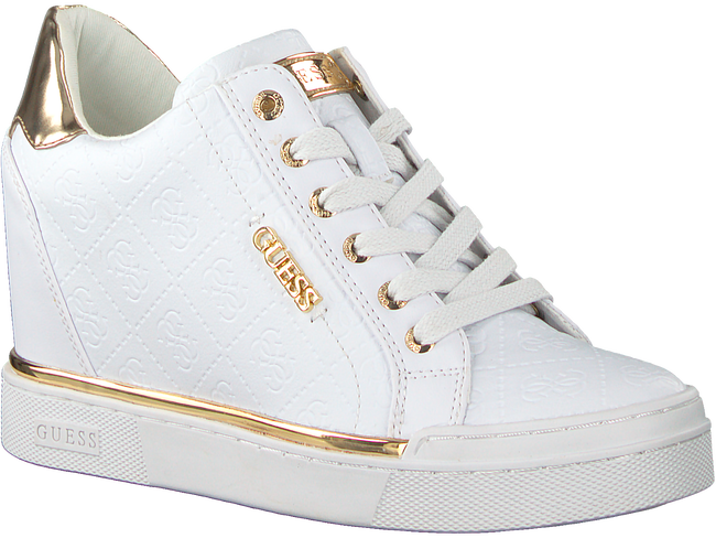 White GUESS Sneakers FLOWURS STIVALETTO  - large