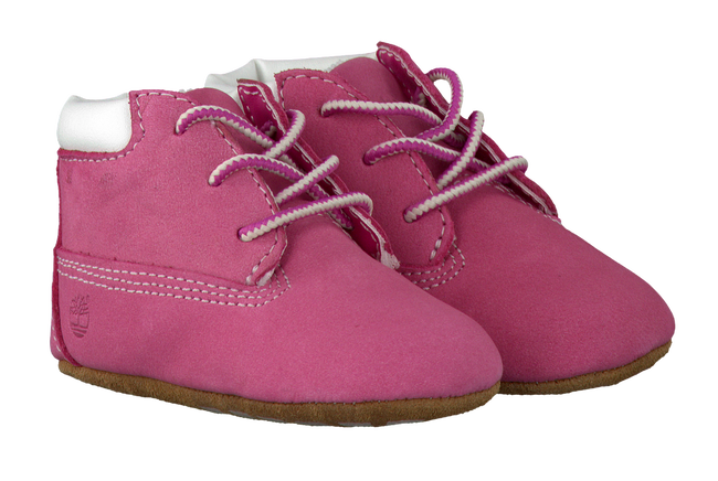 Pink TIMBERLAND Baby shoes CRIB BOOTIE W/HAT - large