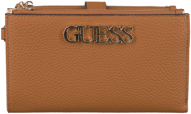 Cognac GUESS Shoulder bag UPTOWN CHIC SLG DBL ZIP  - large