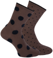 Brown MARCMARCS Socks JADE 2-PACK  - medium