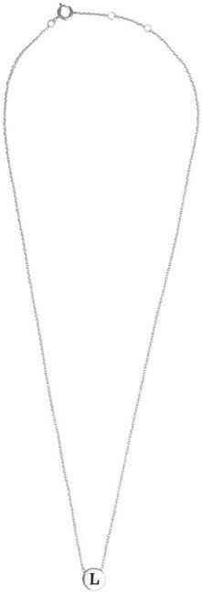 Silver ALLTHELUCKINTHEWORLD Necklace CHARACTER NECKLACE LETTER SILV - large