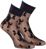 Black MARCMARCS Socks FLOWER LUREX CUFF - small