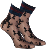 Black MARCMARCS Socks FLOWER LUREX CUFF - medium