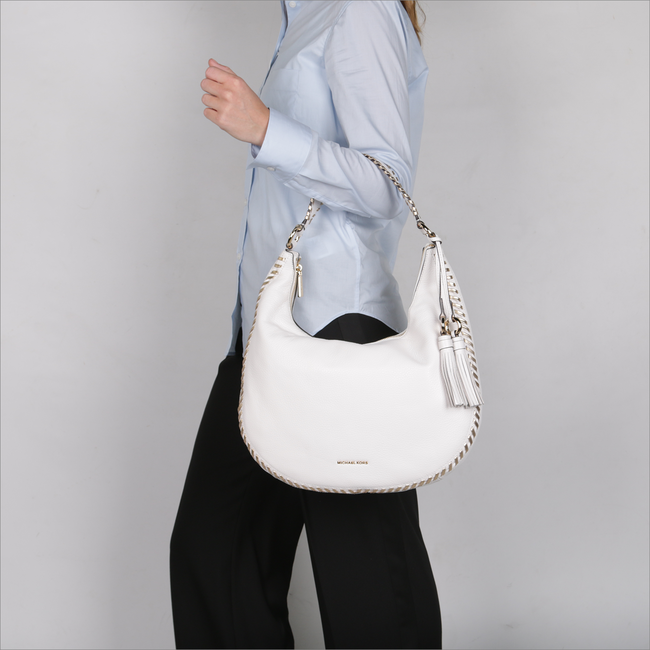 White MICHAEL KORS Shoulder bag LG HOBO - large