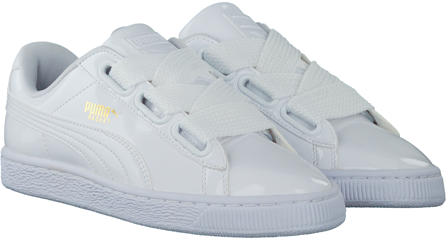 51e50141eaa850 White PUMA Sneakers BASKET HEART PATENT - large. Next