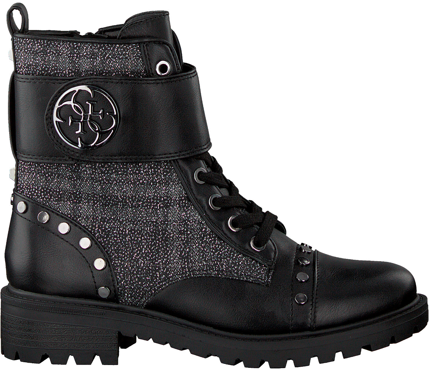 premium selection be3f9 d734e Black GUESS Lace-up boots HEATHIRE/STIVALETTO