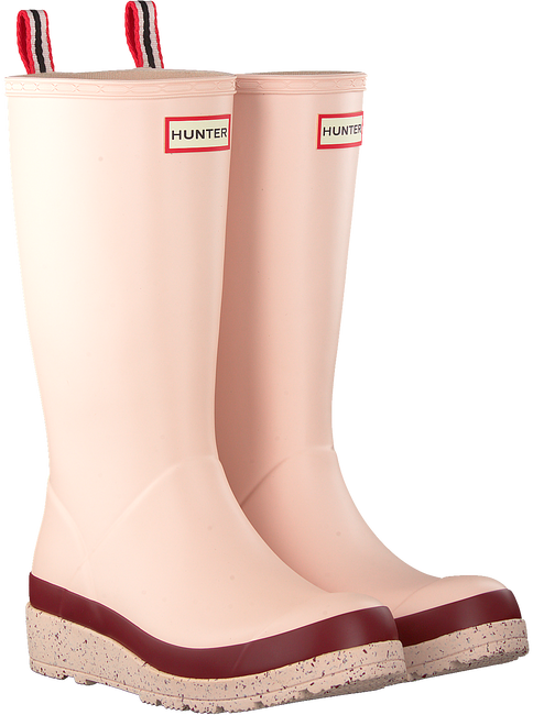 Pink HUNTER Rain boots WOMENS PLAY TALL SPECKLE SOLE  - large