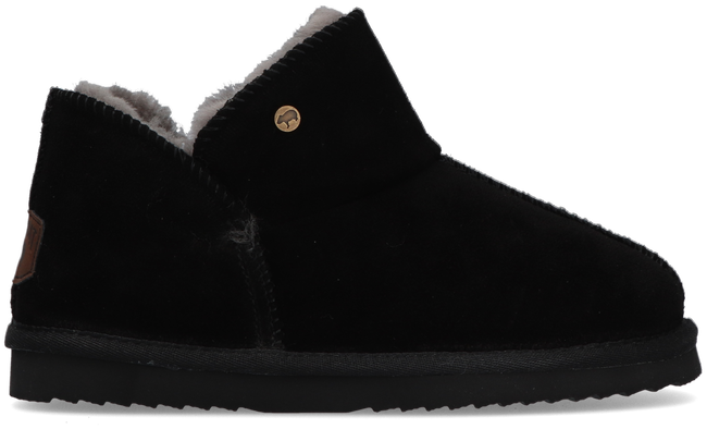 Black WARMBAT Slippers WILLOW WOMEN SUEDE - large