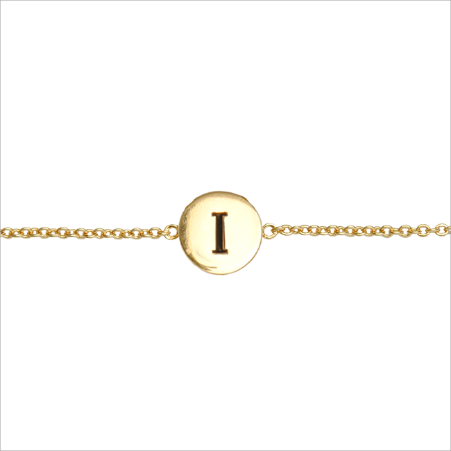 Gold ALLTHELUCKINTHEWORLD Bracelet CHARACTER BRACELET LETTER GOLD - large