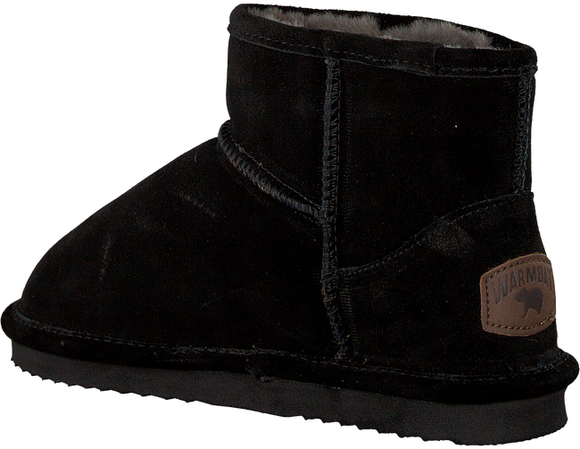 Black WARMBAT Slippers WALLABY WOMEN SUEDE - large