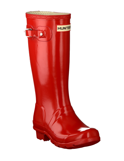 Red HUNTER Rain boots ORIGINAL KIDS GLOSS - large