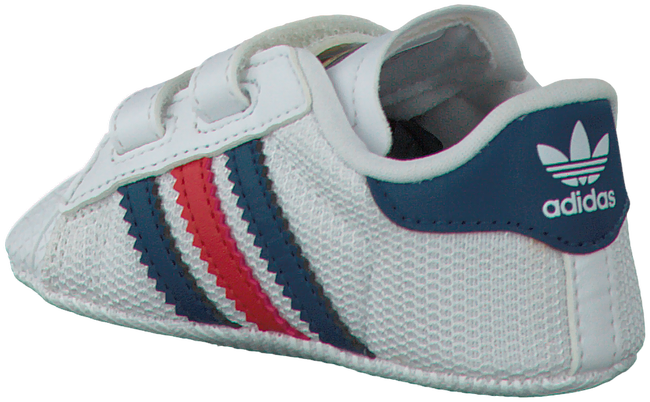 White ADIDAS Baby shoes SUPERSTAR CRIB - large