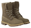 Taupe TIMBERLAND Ankle boots AUTHENTICS TEDDY FLEECE - small