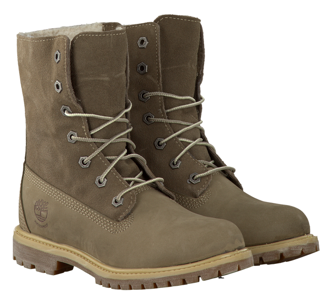 Taupe TIMBERLAND Ankle boots AUTHENTICS TEDDY FLEECE - large