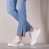 White WOMSH Low sneakers VEGAN WAVE WHITE SNOOPY  - small
