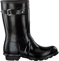 Black HUNTER Rain boots WOMENS ORIGINAL SHORT - medium