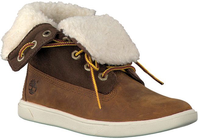 Brown TIMBERLAND Ankle boots GROVETON GIRLS DEERING - large