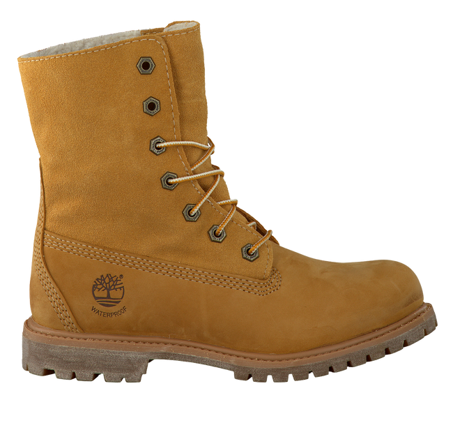 Camel TIMBERLAND Ankle boots AUTHENTICS TEDDY FLEECE - large