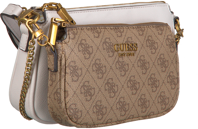 Brown GUESS Shoulder bag MIKA DOUBLE POUCH CROSSBODY  - large