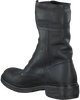 Black RED RAG Biker boots 76210 - small