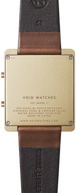 Gold VOID WATCHES Watch V01MKII - large