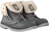 Grey PALLADIUM Ankle boots BAGGY LEATHER ZIP KIDS - small