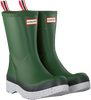 Green HUNTER Rain boots MENS PLAY MID SPECKLE SOLE WEL  - small