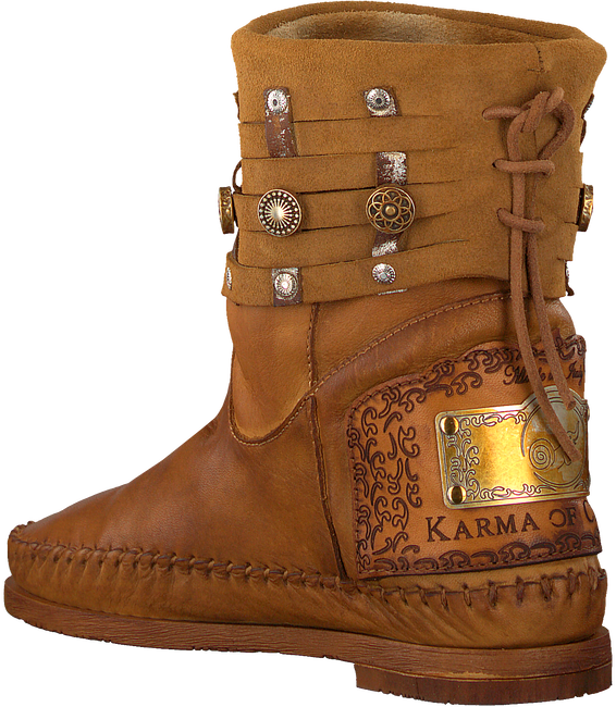Cognac KARMA OF CHARME Booties MOON - large