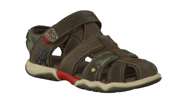 Green TIMBERLAND Sandals PARK HOPPER L/F FISHERMAN KIDS - large