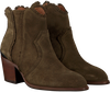 Green NUBIKK Booties FREDDY FRINGE - small