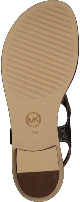 Gold MICHAEL KORS Sandals MK PLATE THONG - large